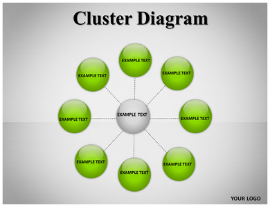 Cluster Diagram Powerpoint Templates