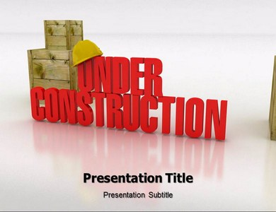 Under Construction Powerpoint Templates