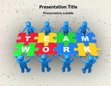 Teamwork Cartoons Powerpoint Templates