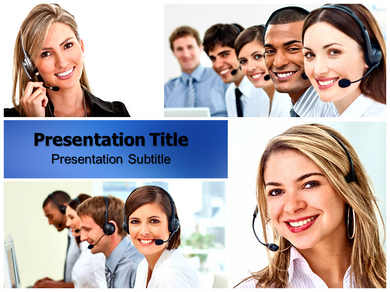 Customer Support Desk Powerpoint Templates