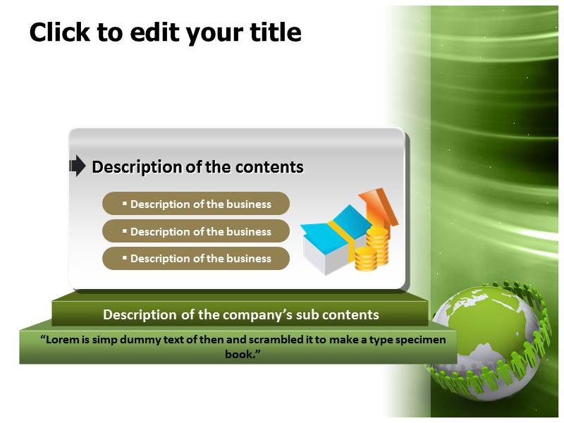 Ecology And Environment Powerpoint Templates