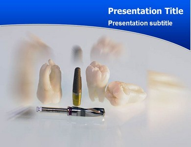 Implant Teeth Powerpoint Templates