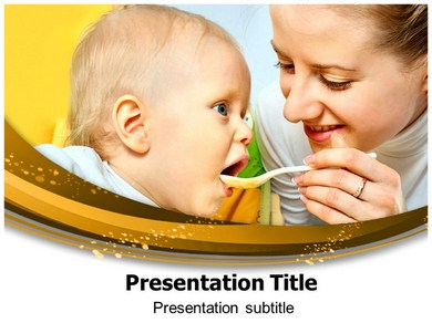Babies Eating Powerpoint Templates