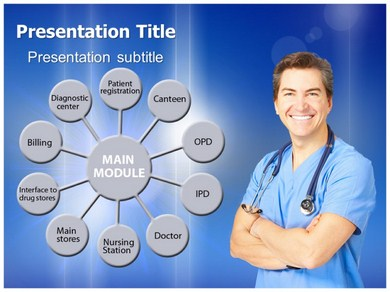 Hospital Management Powerpoint Templates