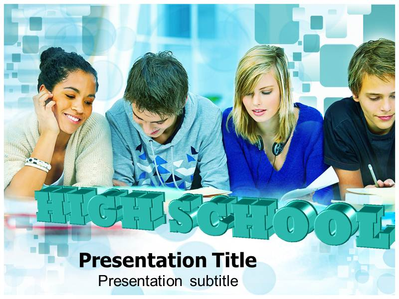 High school powerpoint template powerpoint presentation on high my toneelgroepblik Gallery