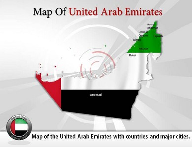 Map of United Arab Emirates  PowerPoint Templates
