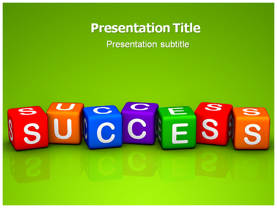 Success Dice Powerpoint Template Template Powerpoint Powerpoint Slide