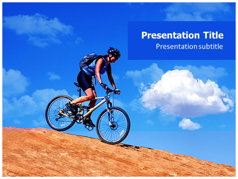 Bike powerpoint template akbaeenw mountain biking ppt powerpoint template powerpoint background on toneelgroepblik Image collections