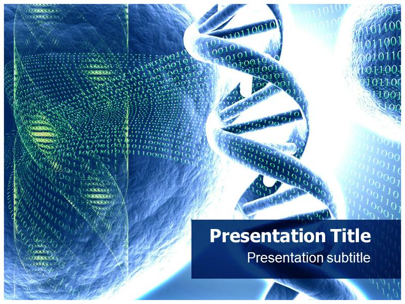 Free powerpoint DNA templates and backgrounds