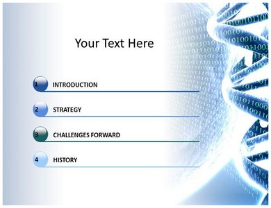 dna powerpoint templates, dna molecule and dna double helix ppt slide, Powerpoint templates