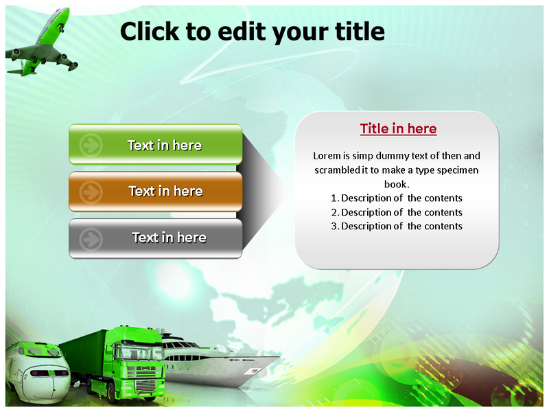 Green Transportation Powerpoint Templates