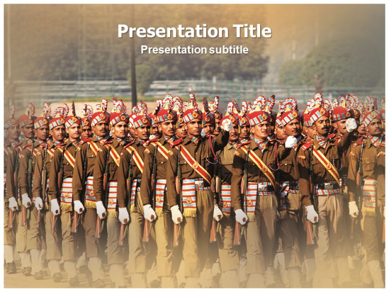 Indian army powerpointppt templates powerpoint template for download toneelgroepblik Image collections