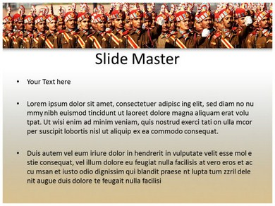 Indian army powerpointppt templates powerpoint template for previous template next template toneelgroepblik Choice Image