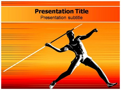 Javelin Game Powerpoint Templates