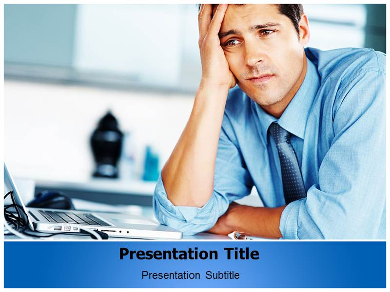 Business Trouble Templates For Powerpoint