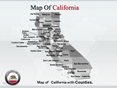 California Map  powerPoint template