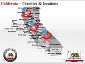 California Map  powerPoint backgrounds