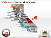 California Map  background PowerPoint Templates