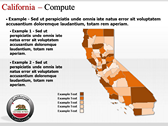 California Map  powerpoint backgrounds download