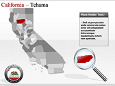 California Map  powerpoint theme professional