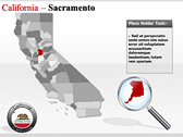 California Map  templates for power point