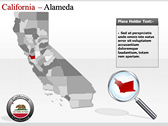 California Map  powerpoint template download