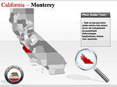 California Map  themes for power point