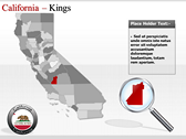 California Map  power point background graphics