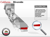 California Map  powerpoint theme download