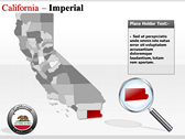 California Map  ppt themes template
