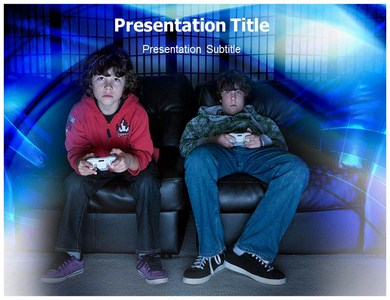 Games Addiction Powerpoint Templates