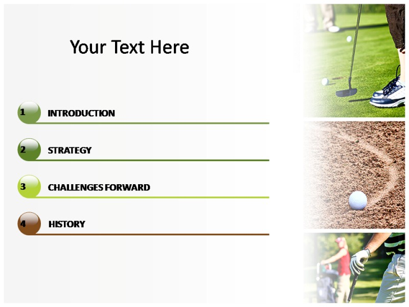 Golf Club 1 Powerpoint Templates