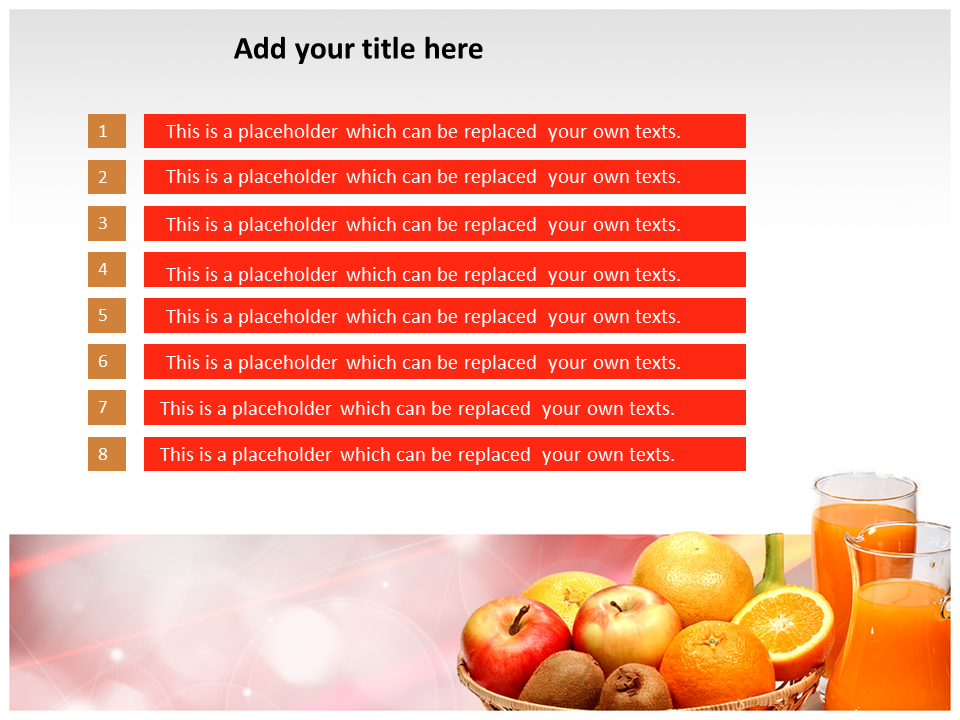 Fruits Juice Powerpoint Templates