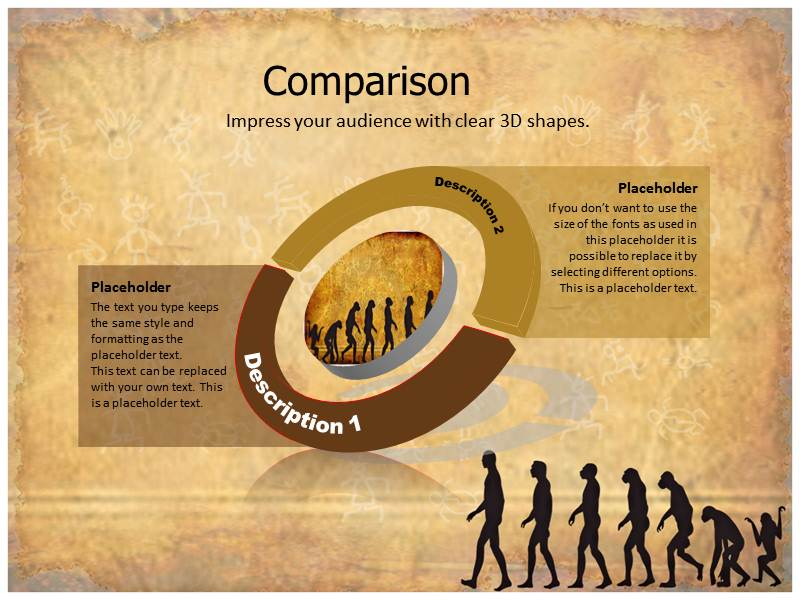 evolution facts powerpoint template, powerpoint slide, powerpoint, Modern powerpoint