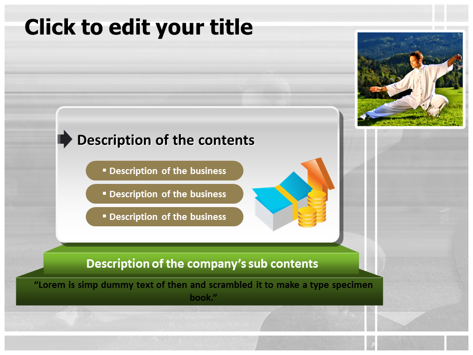 Man Practicing Martial Art Powerpoint Templates