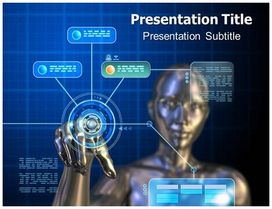 Digital interface Powerpoint Templates