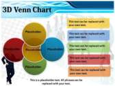 3D Venn Chart powerpoint backgrounds download