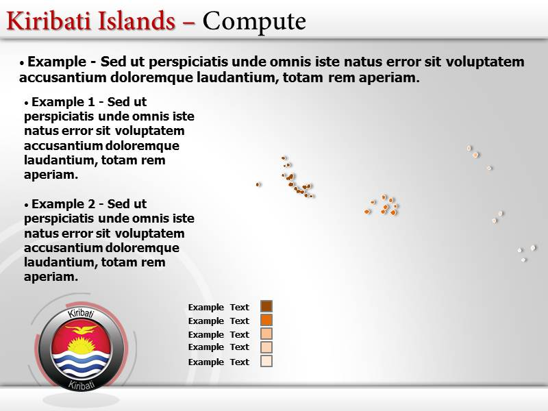 Map of Kiribati Islands  PowerPoint Templates