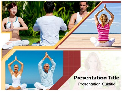 Yoga Workouts Powerpoint Templates