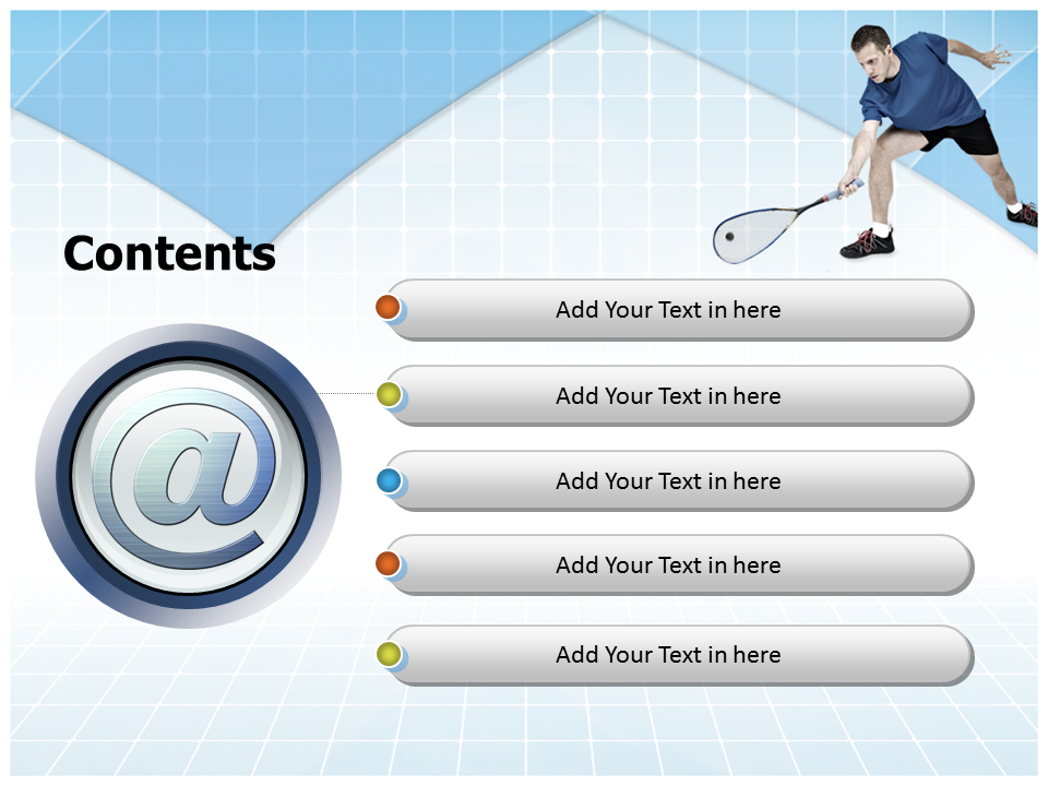 Squash Player Powerpoint Templates