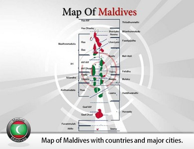 Map of Maldives  PowerPoint Templates