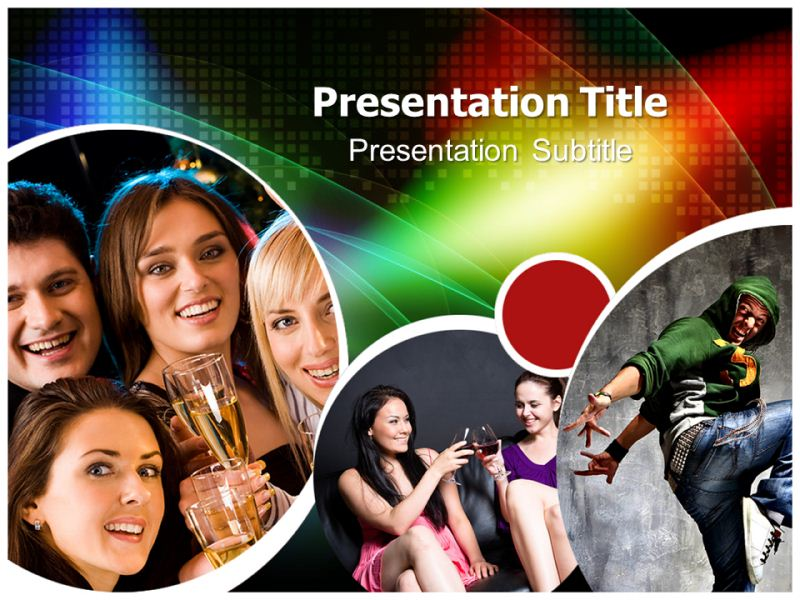 Night Party Opening Powerpoint Templates