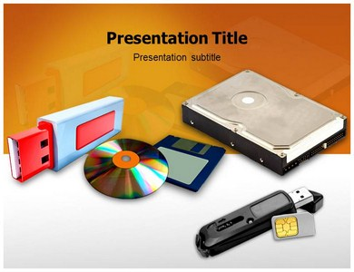 Memory Storage Devices Powerpoint Templates