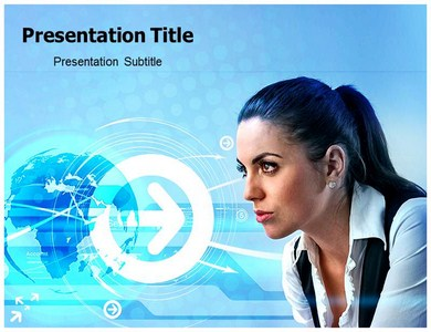 Look Into The Future Powerpoint Templates