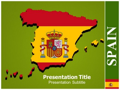 Map Of Spain 1 Powerpoint Templates