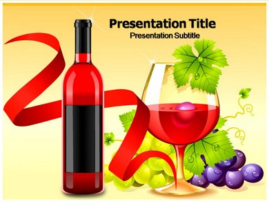 Wine menu Powerpoint Templates