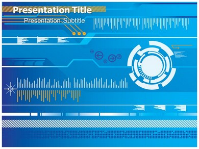 Digital Pattern Powerpoint Templates