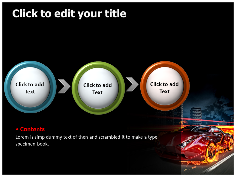 gaming car powerpoint templates powerpoint presentation