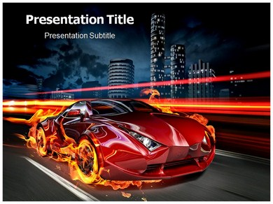 Gaming car Powerpoint Templates