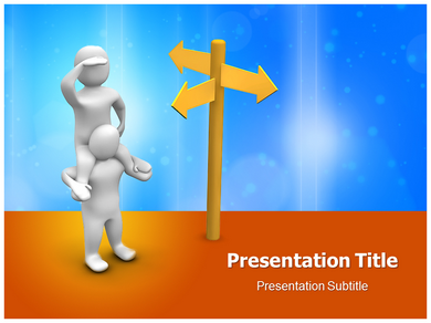 Direction Choosing Powerpoint Templates